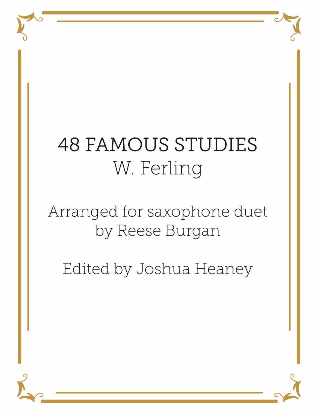48 Famous Studies For Saxophone Duet by Ferling arr. Burgan