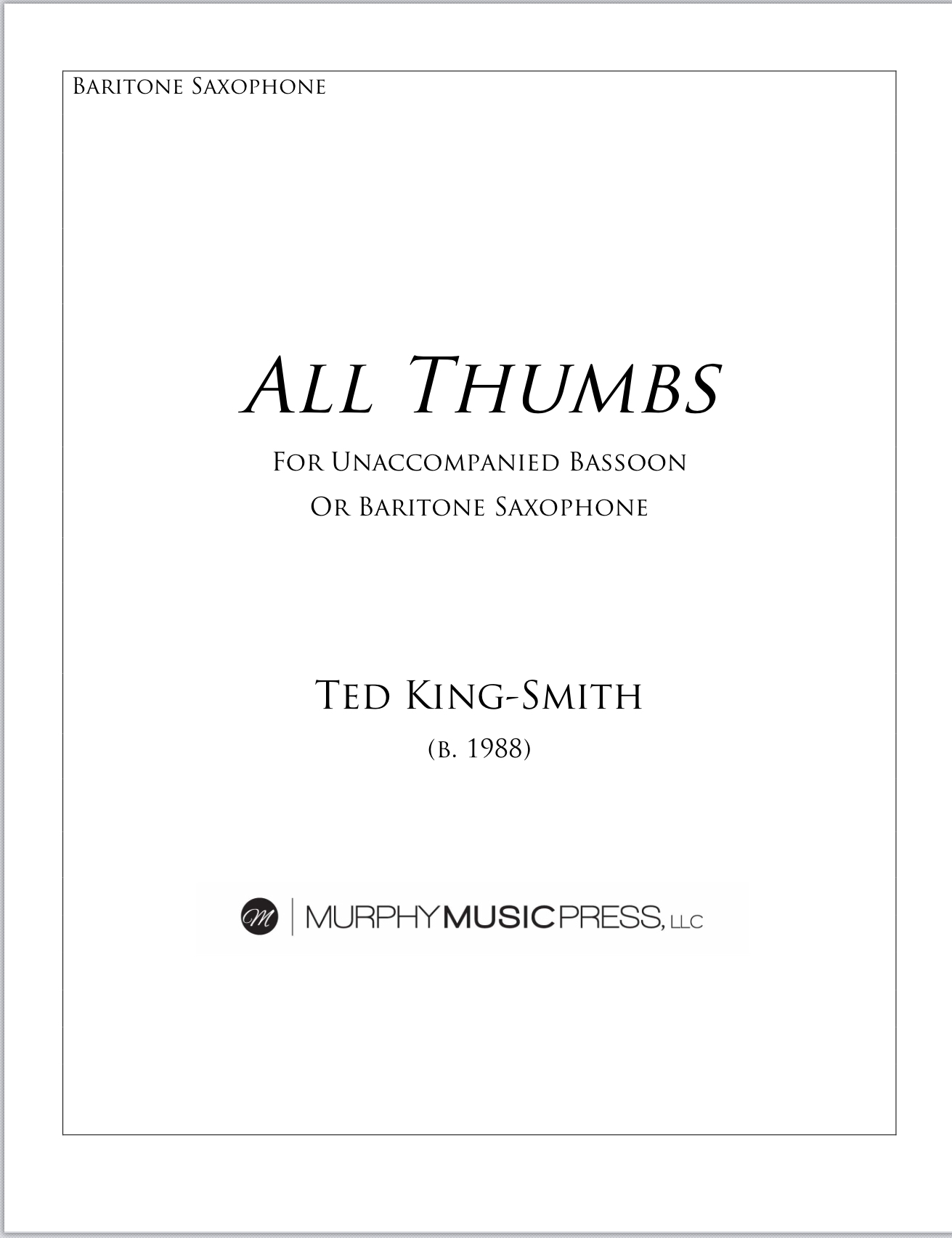 All Thumbs by Ted King Smith