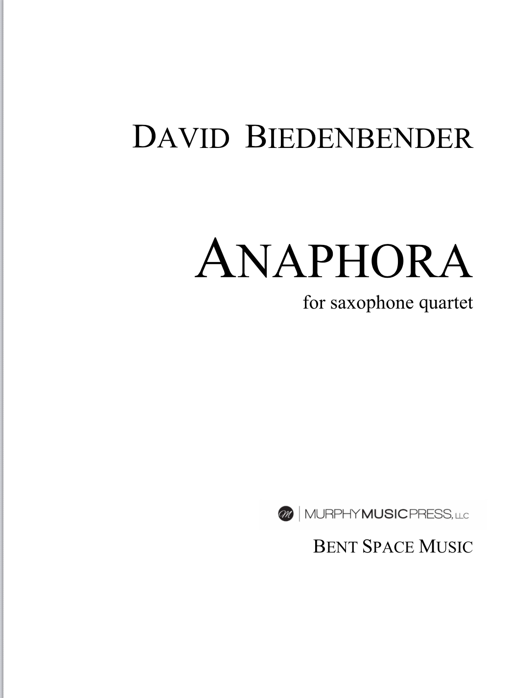 Anaphora  by David Biedenbender