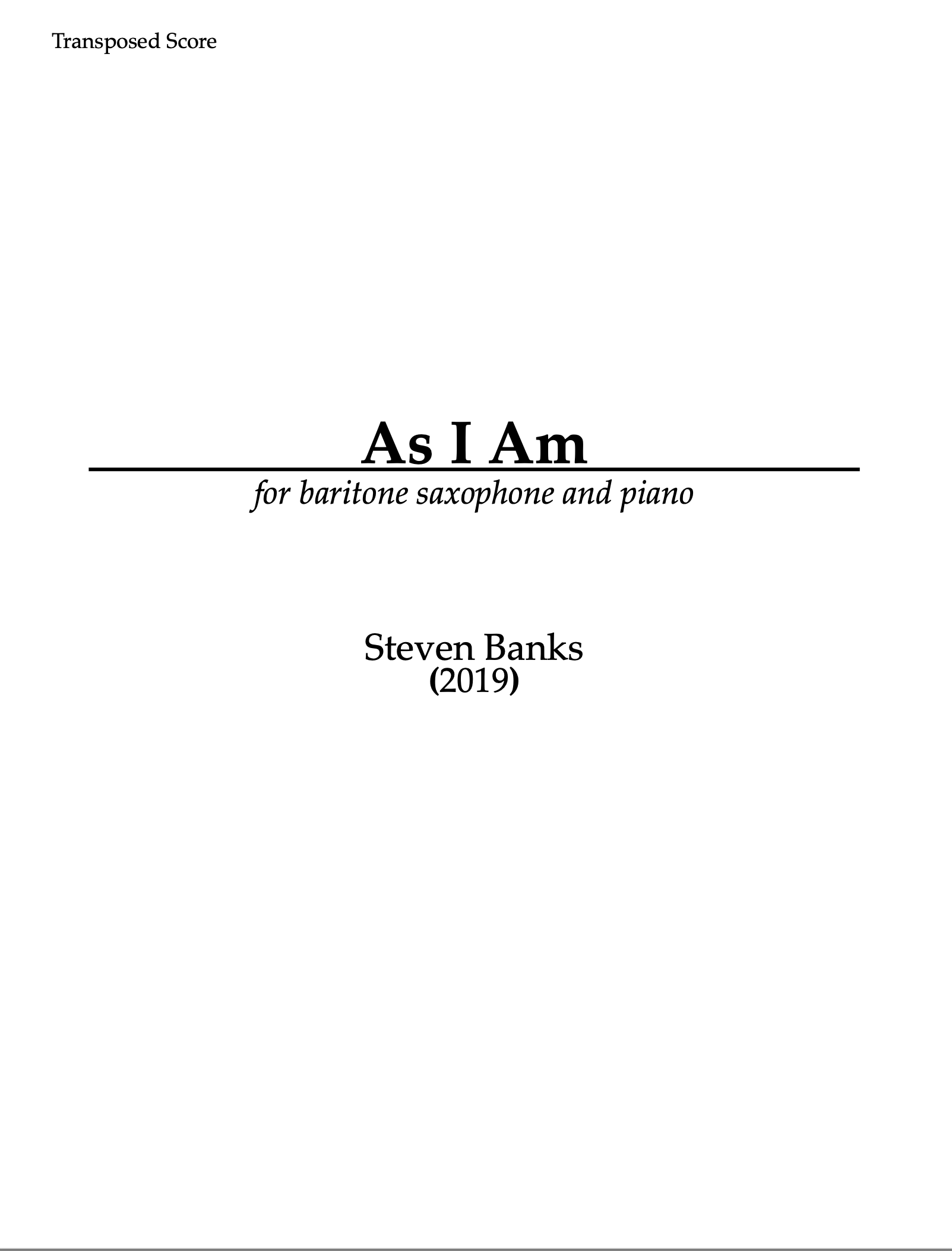 As I Am by Steven Banks