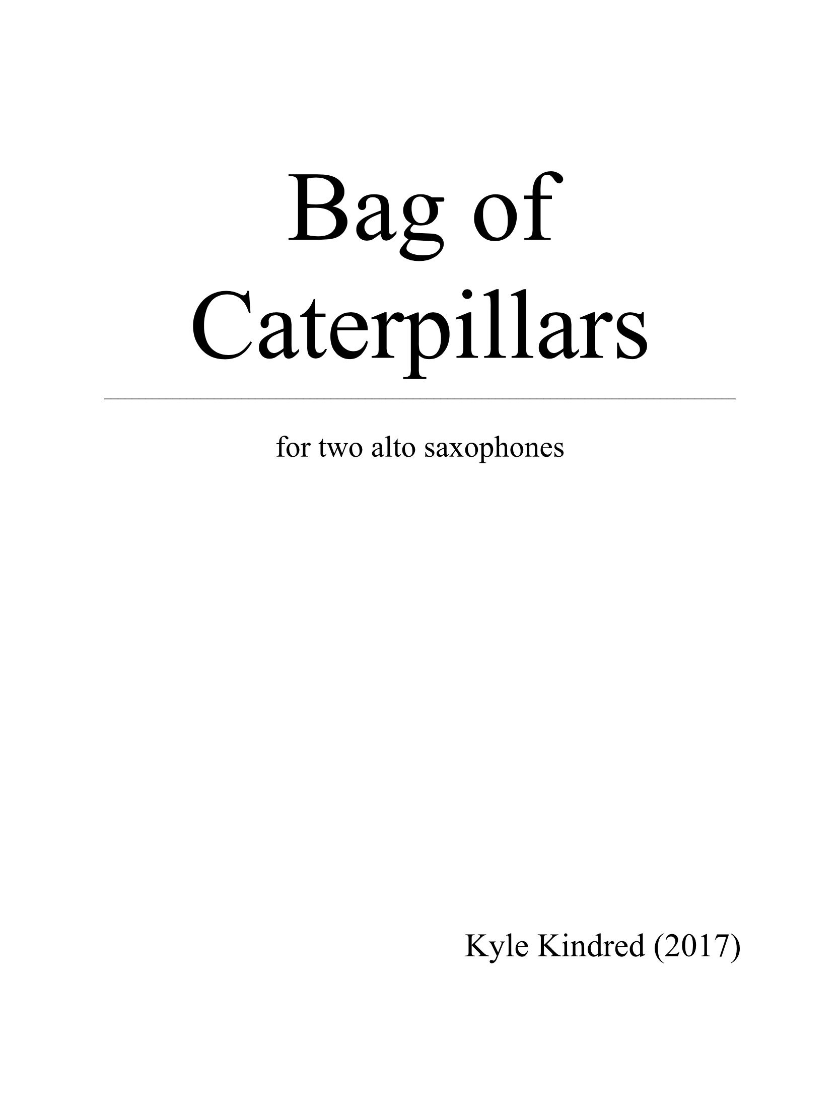 Bag Of Caterpillars  by Kyle Kindred