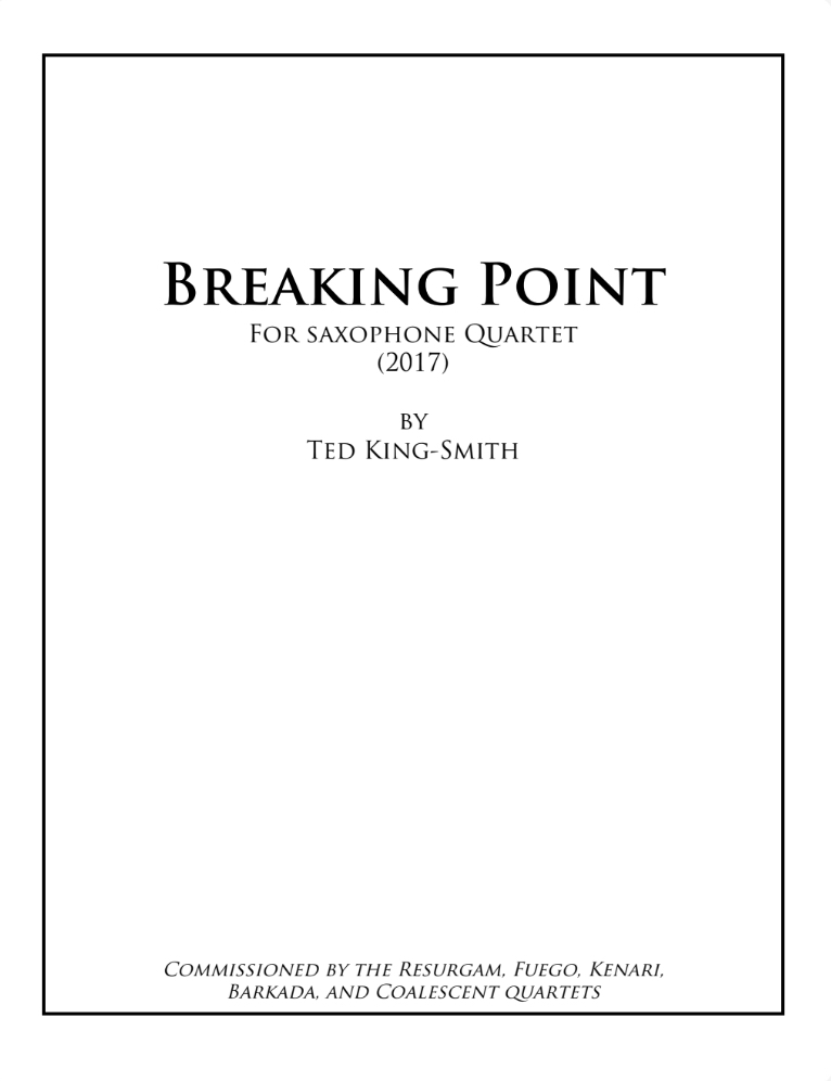 Breaking Point by Ted King-Smith