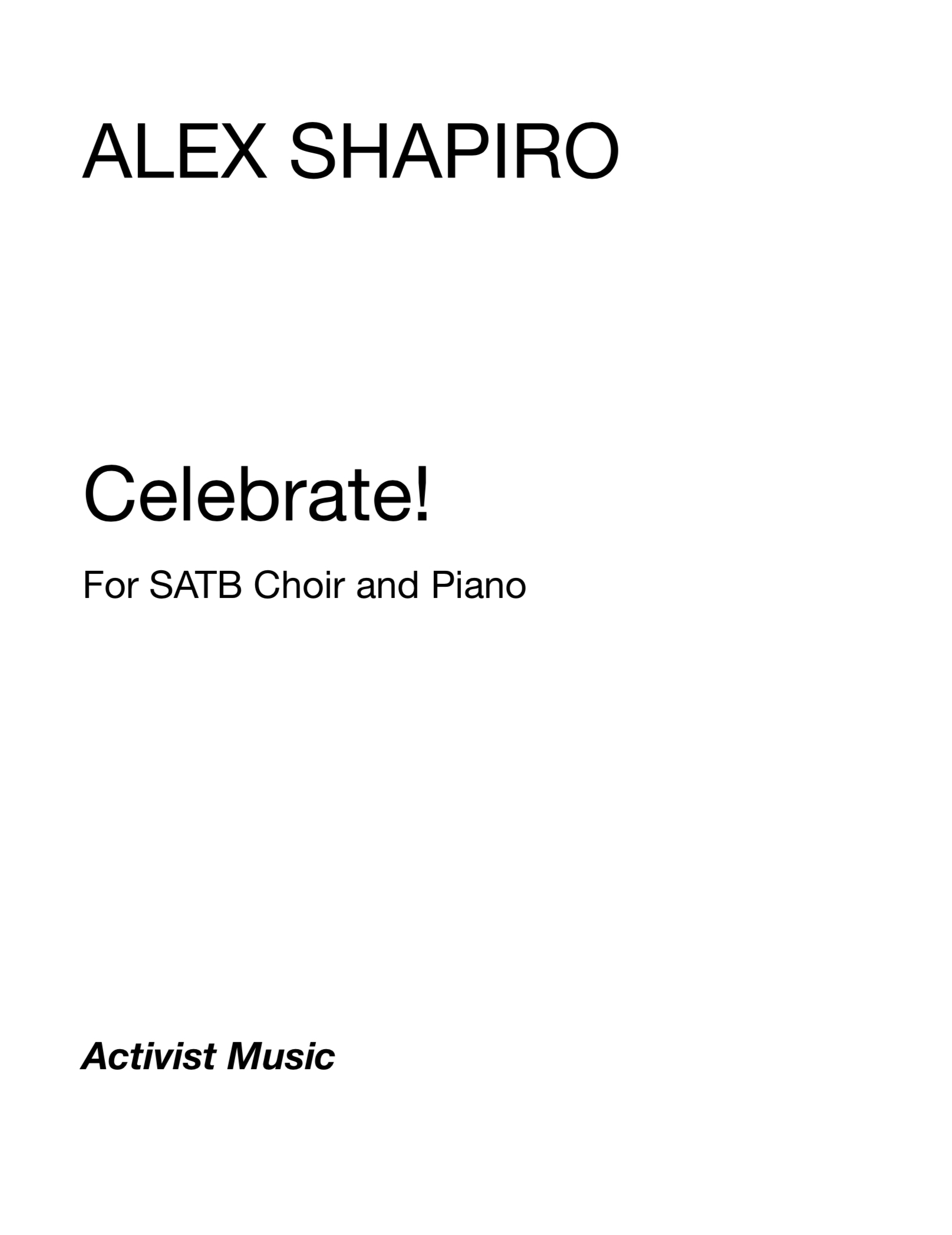 Celebrate! by Alex Shapiro