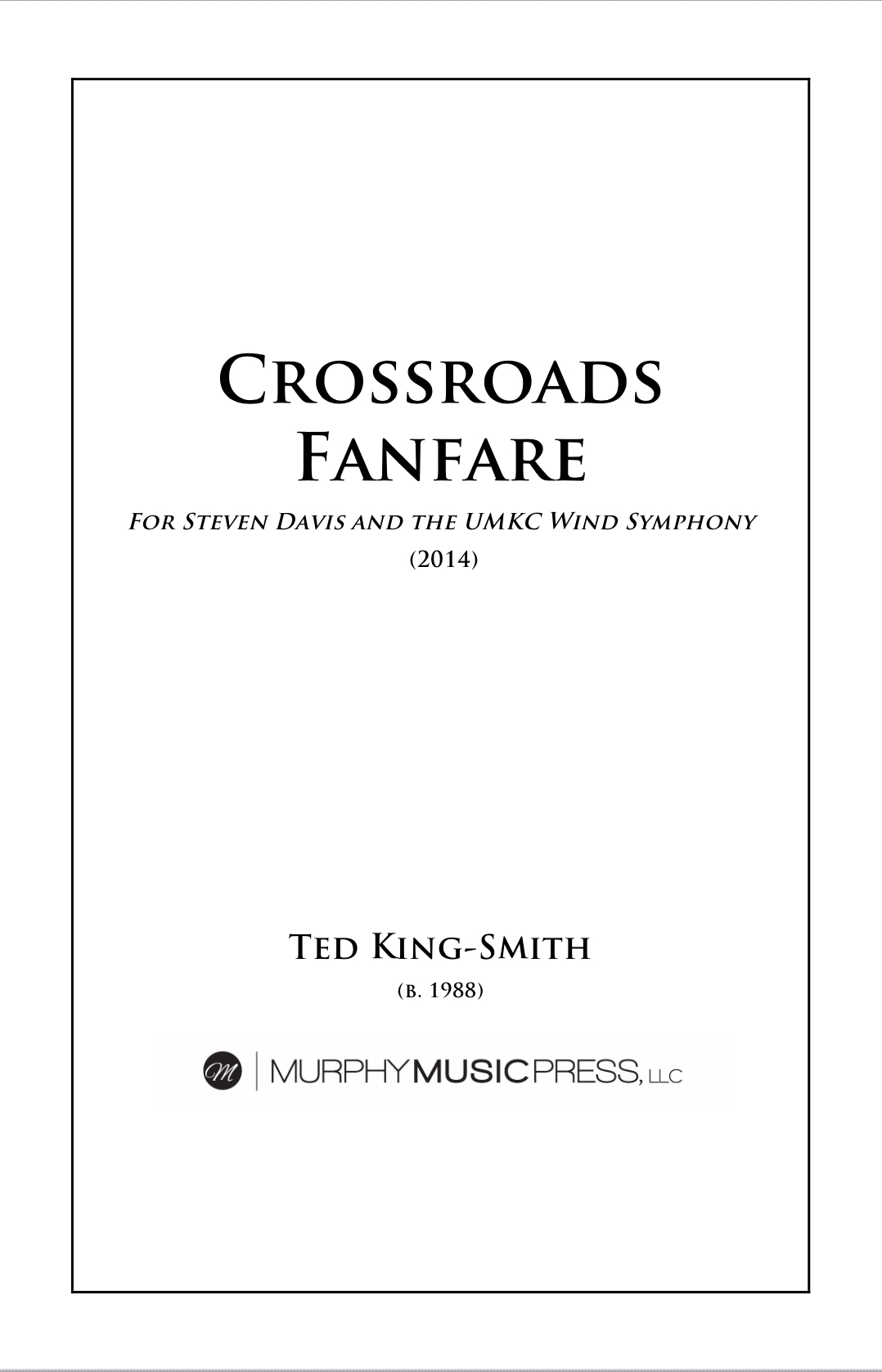 Crossroads Fanare by Ted King-Smith