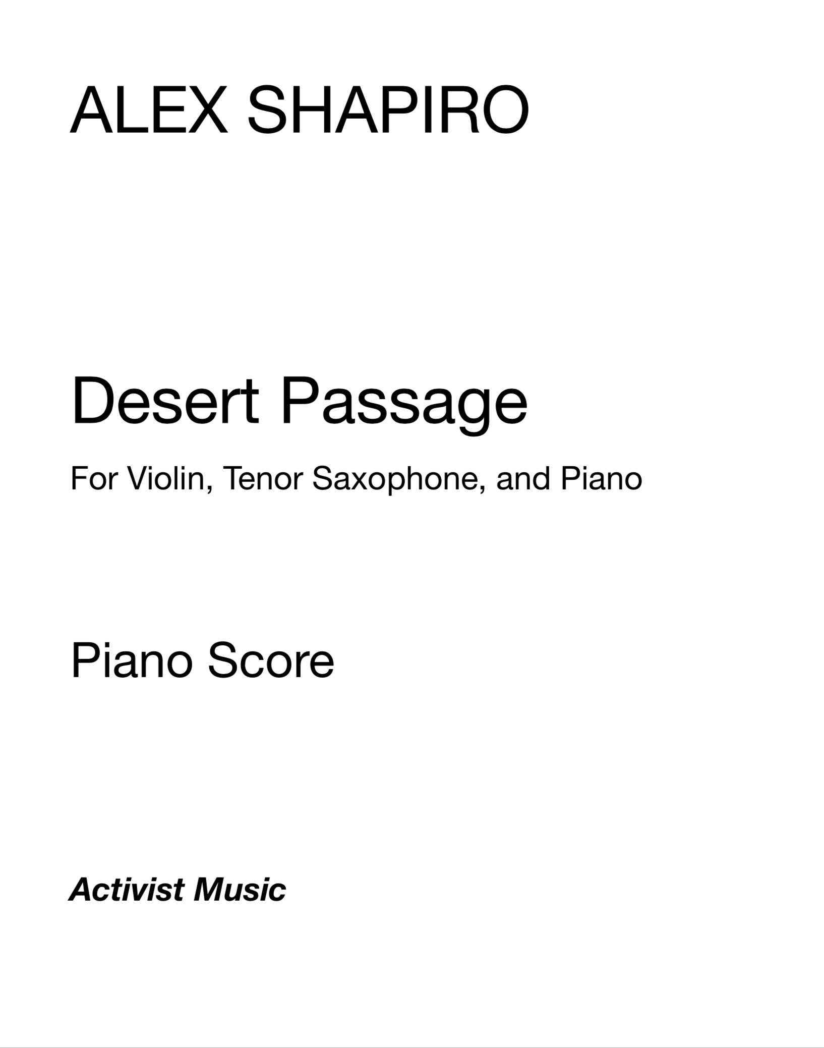 Desert Passage  by Alex Shapiro