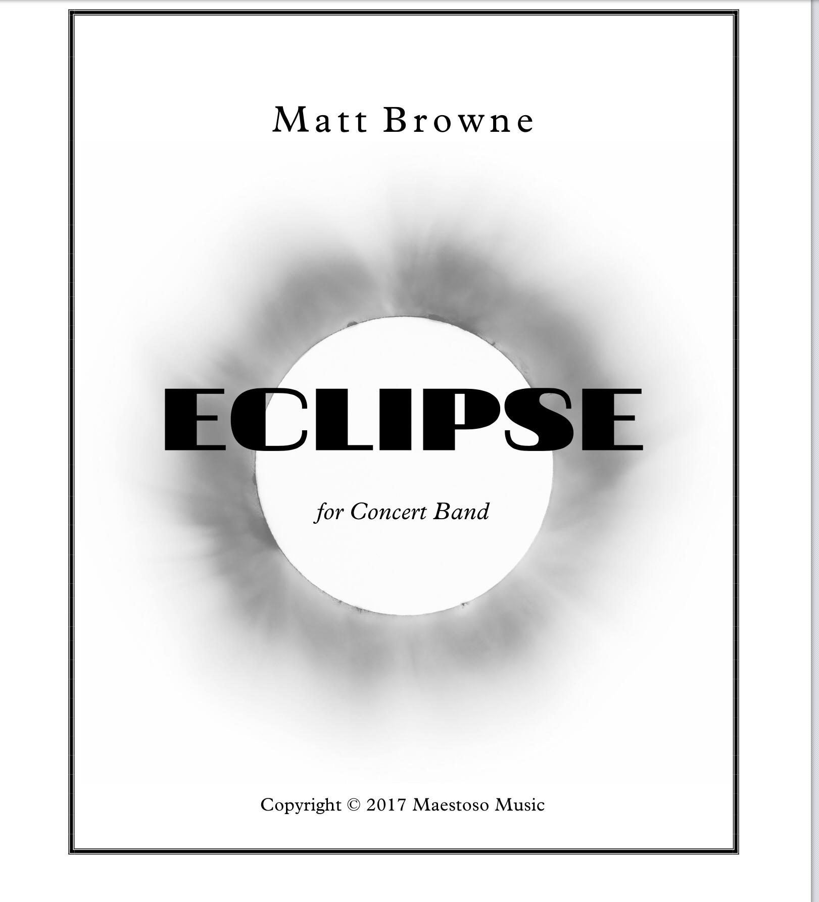 Eclipse  by Matthew Browne