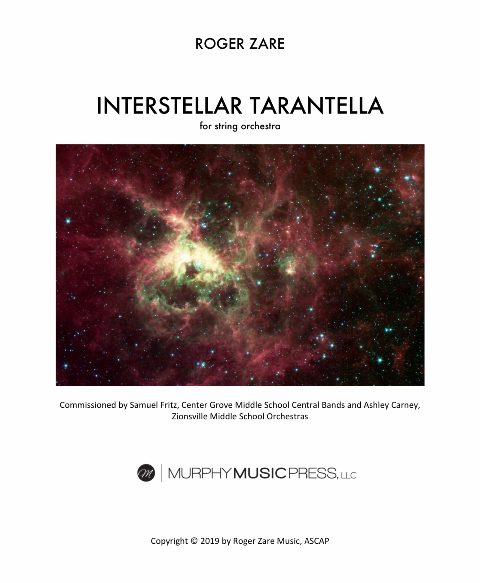 Interstellar Tarantella (String Orchestra Version) by Roger Zare