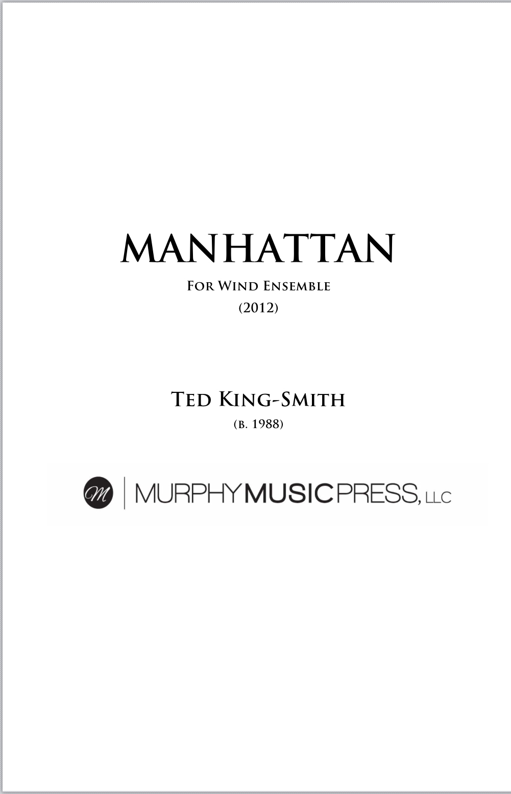 Manhattan  by Ted King-Smith