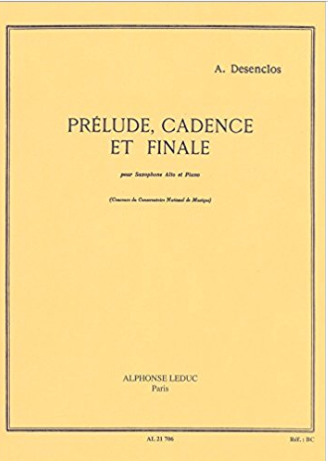 Prelude, Cadence, Et Finale by Alfred Desenclos