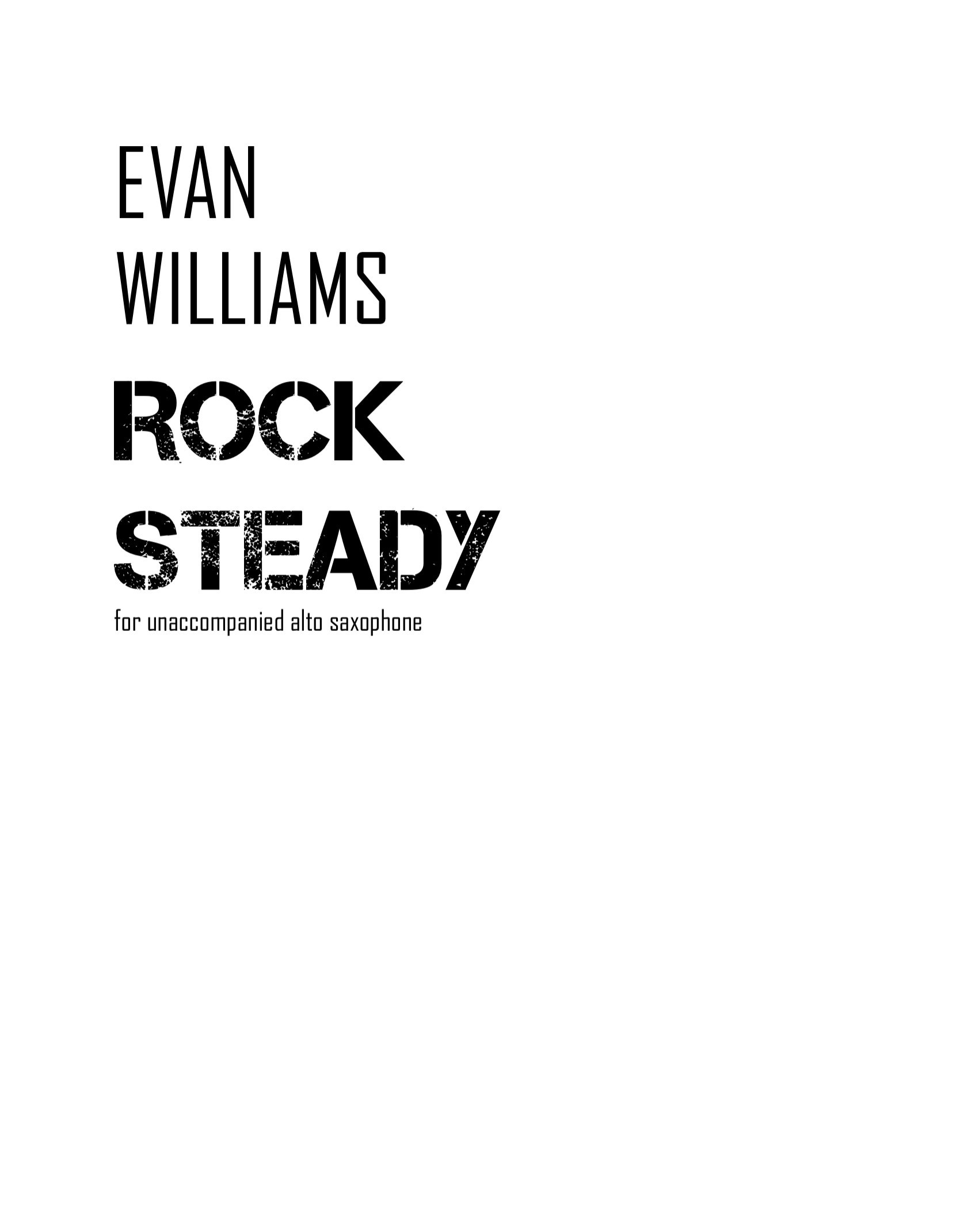 Rock Steady by Evan Williams
