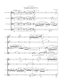 Saxophone Quartet No. 1 by Andrew Mead