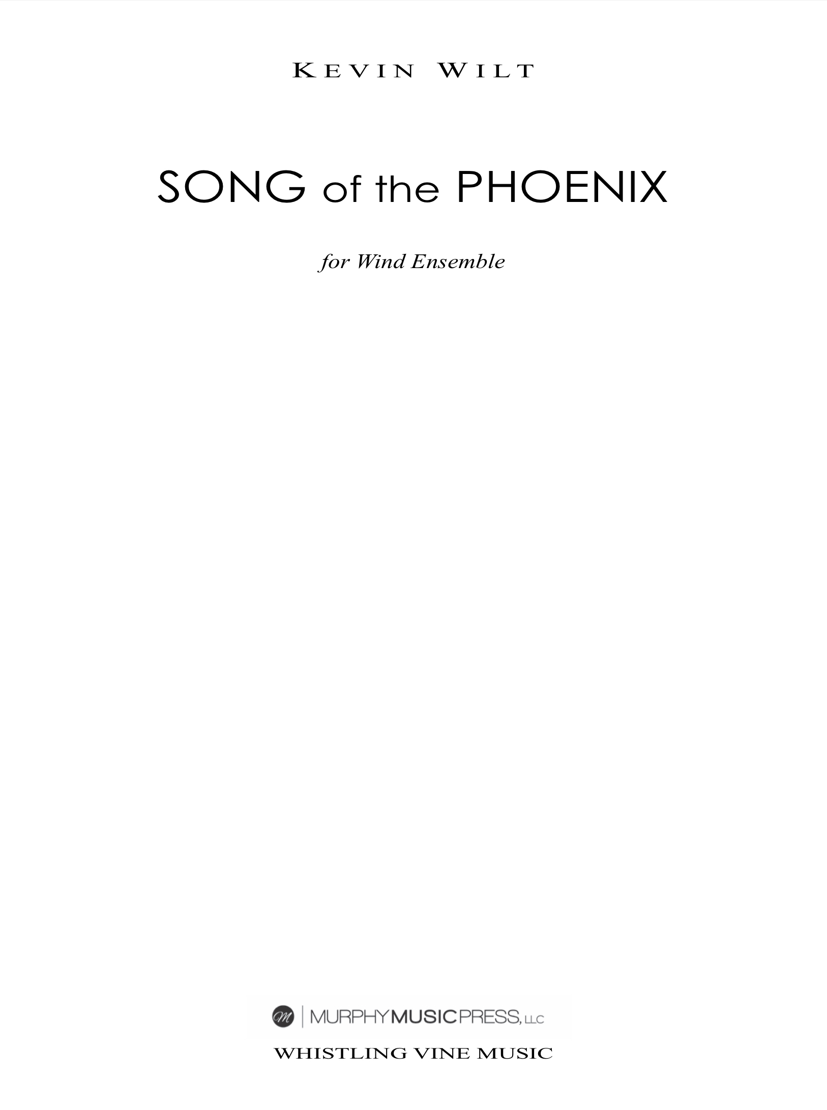 Song Of The Phoenix (Parts Rental Only) by Kevin Wilt