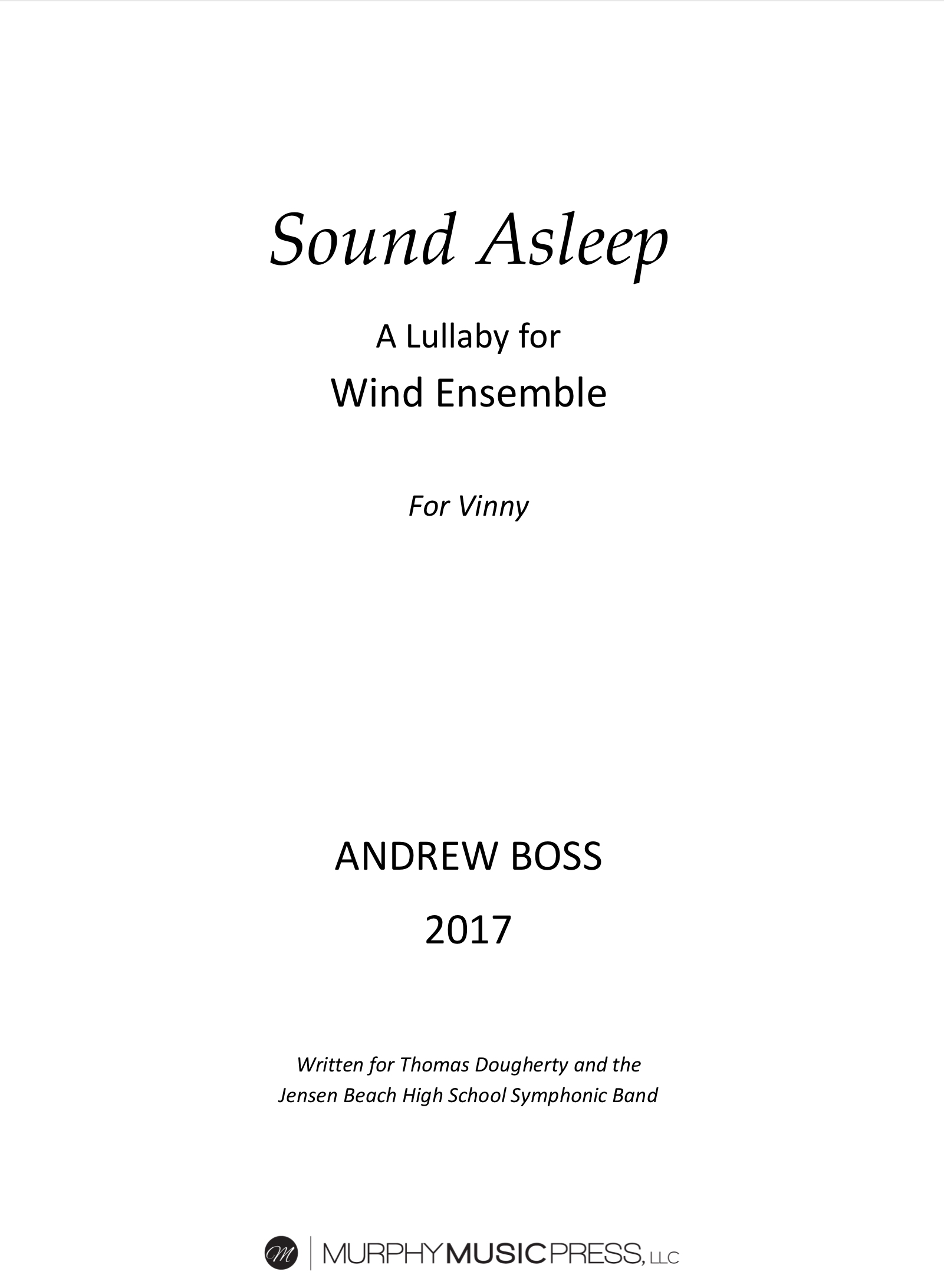 Sound Asleep (PDF Version) by Andrew Boss
