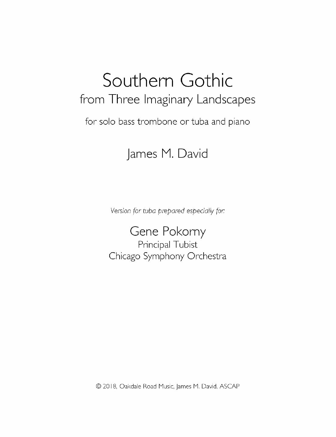 Southern Gothic by James David