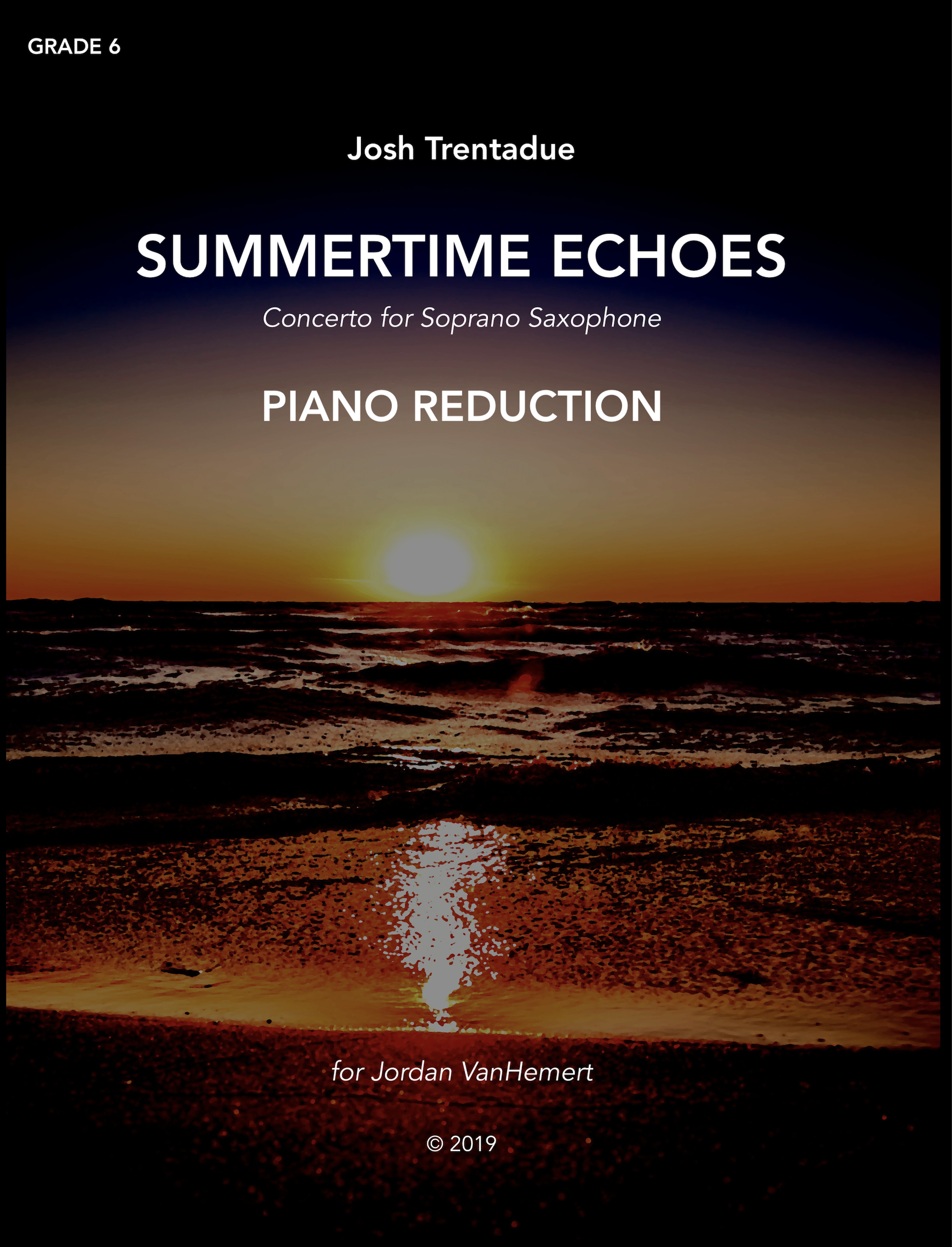 Summertime Echoes (Piano Reduction) by Josh Trentadue