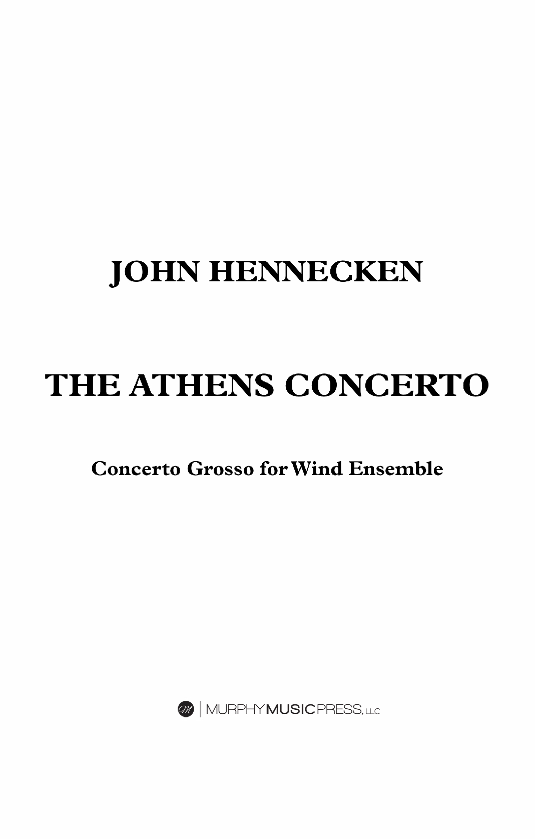 The Athens Concerto by John Hennecken