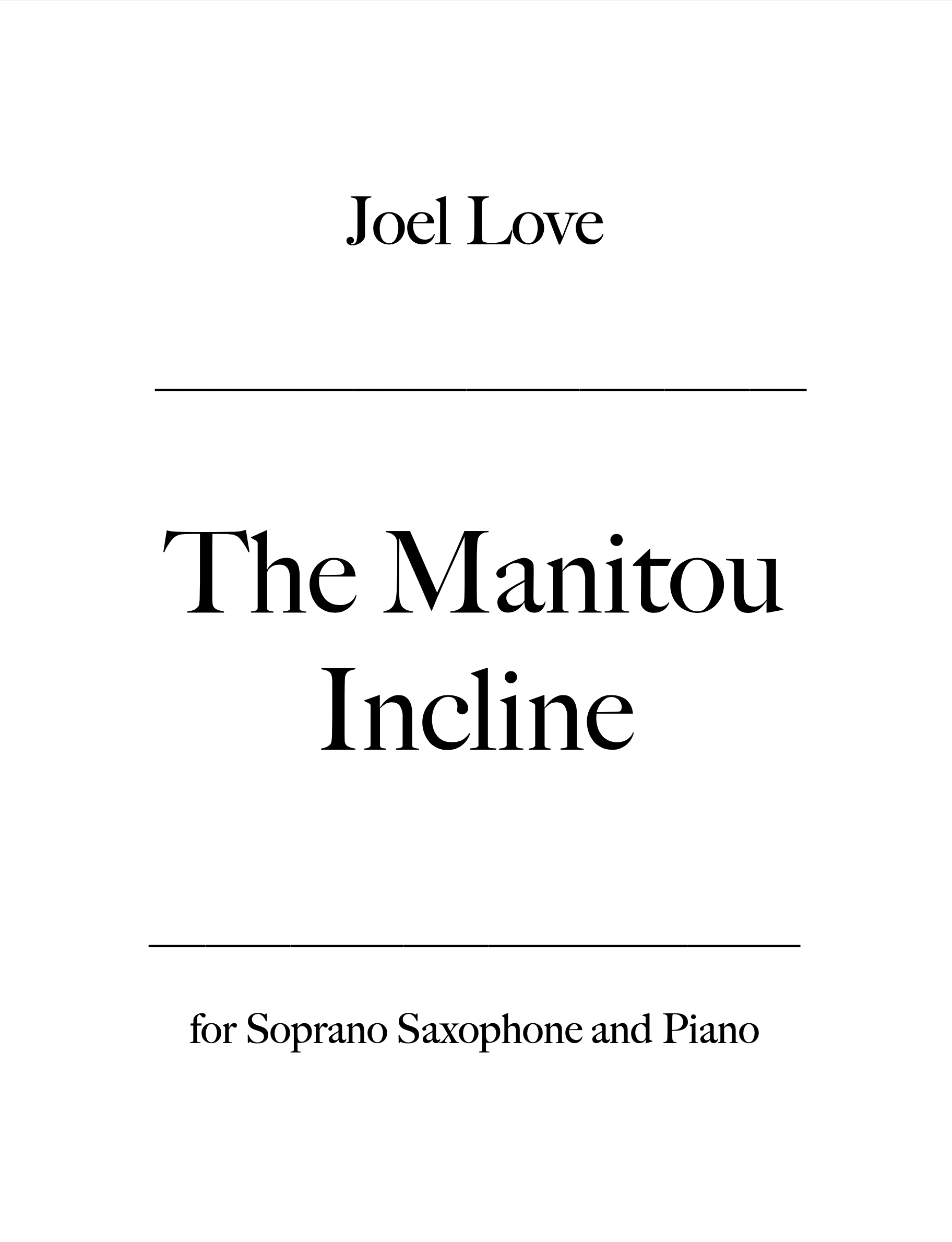 The Manitou Incline by Joel Love