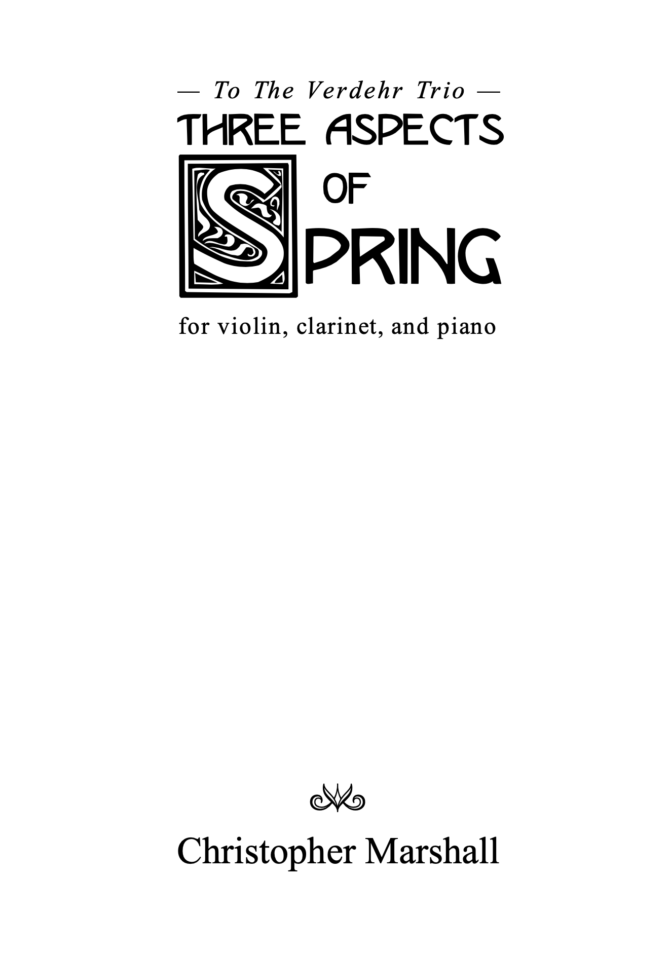 Three Aspects Of Spring by Christopher Marshall